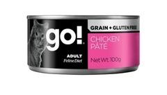 Консервы для кошек всех возрастов, GO! Skin + Coat Chicken Pate CF, с курицей