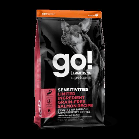 Go! Sensitivities Сухой корм для щенков и собак с чувствительным пищеварением с лососем (беззерновой)
