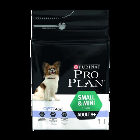Purina Pro Plan Adult 9+ Optiage Small & Mini Сухой корм для пожилых собак мелких пород с курицей и рисом