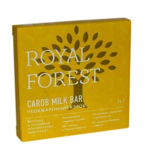 Шоколад ROYAL FOREST необжаренный кэроб, 75 гр. (ТрансКэроб)