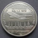 K8837 1979 Германия Жетон Lufthansa Airbus A300 выставка IVA 79 авиация