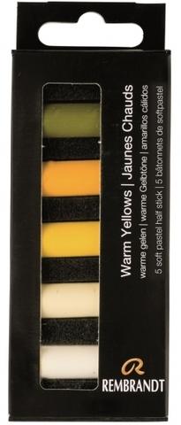 Набор сухой пастели Rembrandt 5цв теплый желтый картон.упак