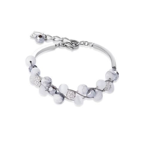 Браслет Coeur de Lion 4895/30-1400 цвет белый, серебряный