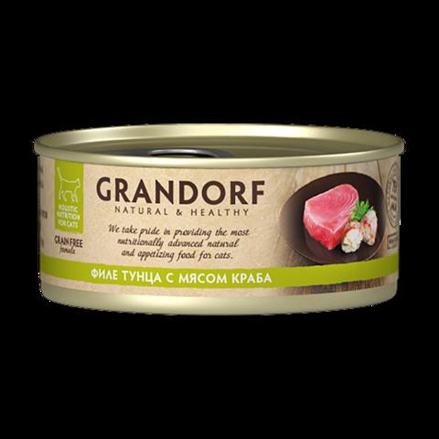Grandorf Tuna with Crab in Broth Консервы для кошек Филе тунца с мясом краба