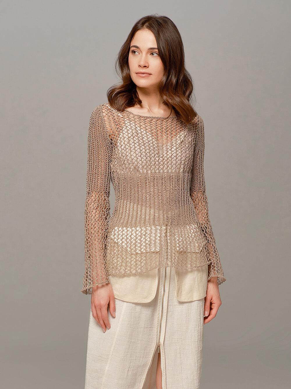 Женский свитер бежевого цвета Olmar GentryPortofino - фото 1