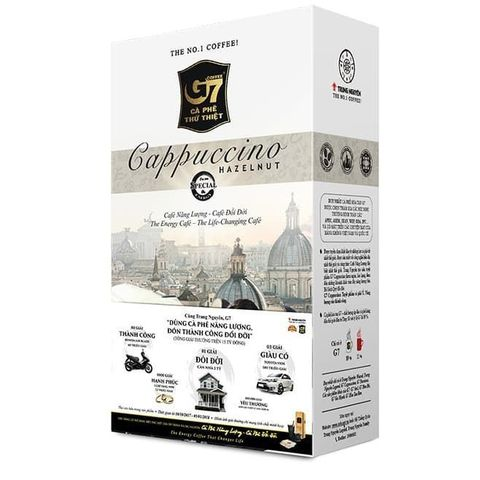 Растворимый кофе капучино 3в1 Trung Nguyen. Коробка 6х12 штук.