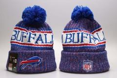 Шерстяная вязаная шапка футбольного клуба Buffalo (NFL) с помпоном