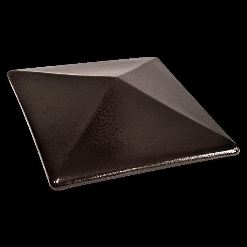 Колпак для столбов забора King Klinker, Ониксовый черный (17) Onyx black, 310x445x90