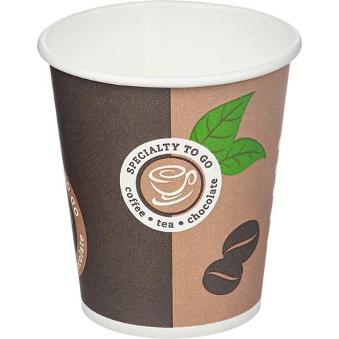 Стакан одноразовый Coffee-to-Go бумажный разноцветный 200 мл 50 штук в упаковке