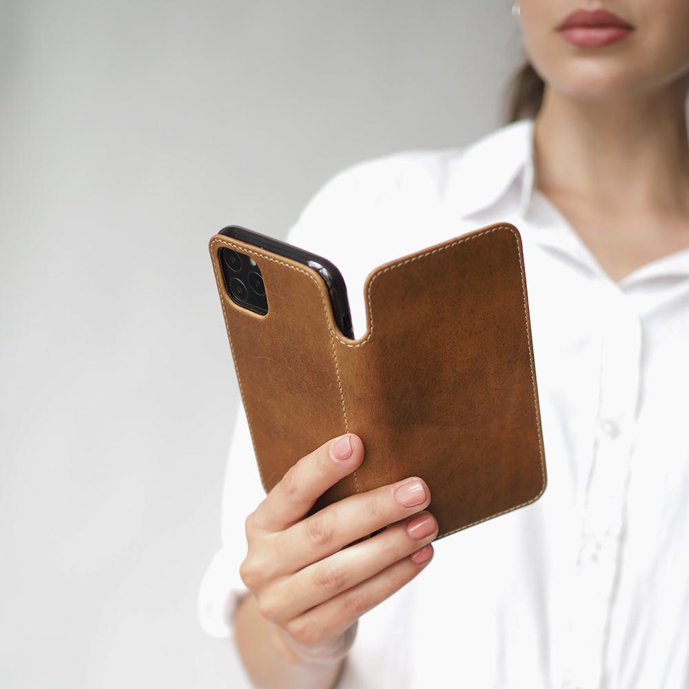 Чехол Benoit для iPhone 11 Pro из натуральной кожи теленка, цвета винтаж