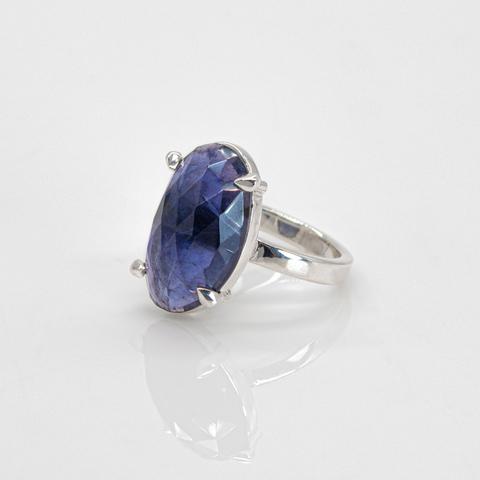 Кольцо с иолитом 17 размер