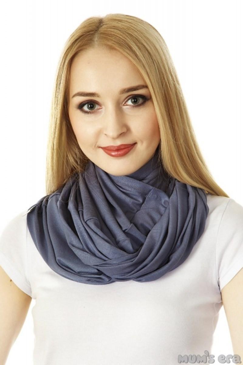 Накидка-шарф для кормления 09723 серый