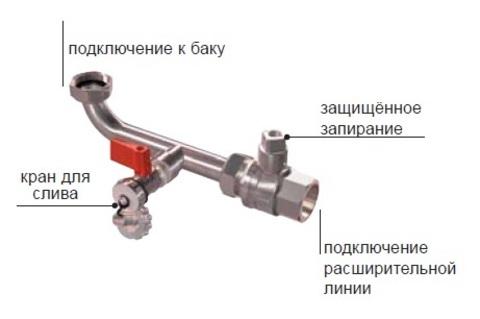 Кран запорный со сливом Reflex AG - 1
