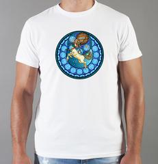 Футболка с принтом Знаки Зодиака, Стрелец (Гороскоп, horoscope) белая 0067