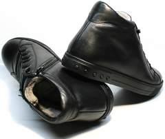 Черные зимние ботинки кеды мужские Ridge 6051 X-16Black