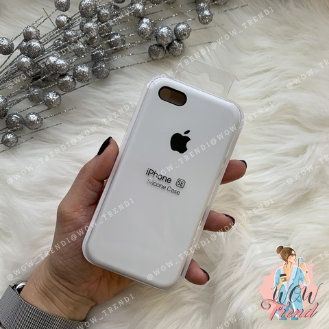 Чехол iPhone 5/5s/SE Silicone Case /white/ белый 1:1