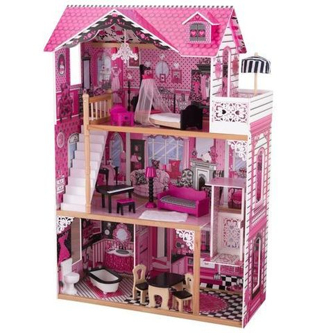 """Кукольный домик для Барби с мебелью """"Амелия"""" (подарочная упаковка)"""