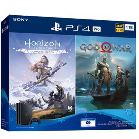 Sony PlayStation 4 Pro Black 1Tб + диск Horizon Zero Dawn CE + диск God of War