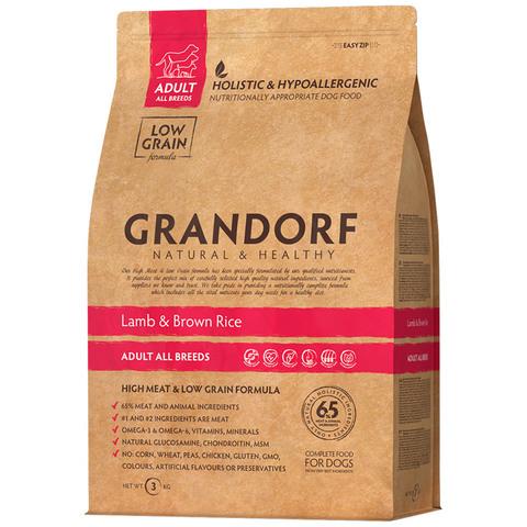 Grandorf Dog Medium сухой корм для собак средних пород (ягнёнок с рисом) 3 кг