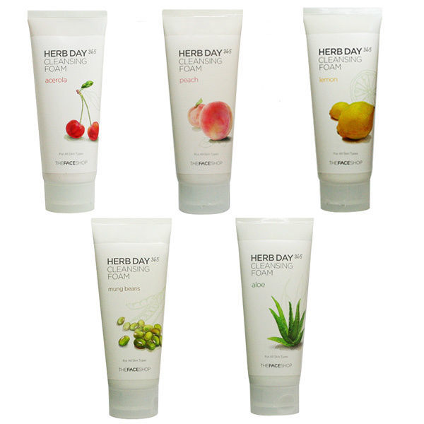 Пенка для умывания The Face Shop Herb Day 365 Cleansing Foam
