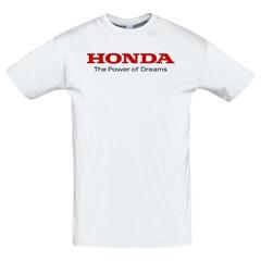 Футболка с принтом Хонда (Honda) белая 2