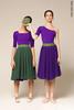 Двусторонняя репетиционная юбка травяная-фиолетовая