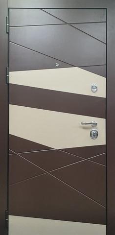 Входная дверь ACOUSTIC X (Шоколад+вставка муар золотистый)