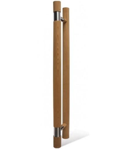 Для дверей: Ручка для двери SAWO 560-D (741 и 742, кедр, с металлической вставкой) в сауну или баню