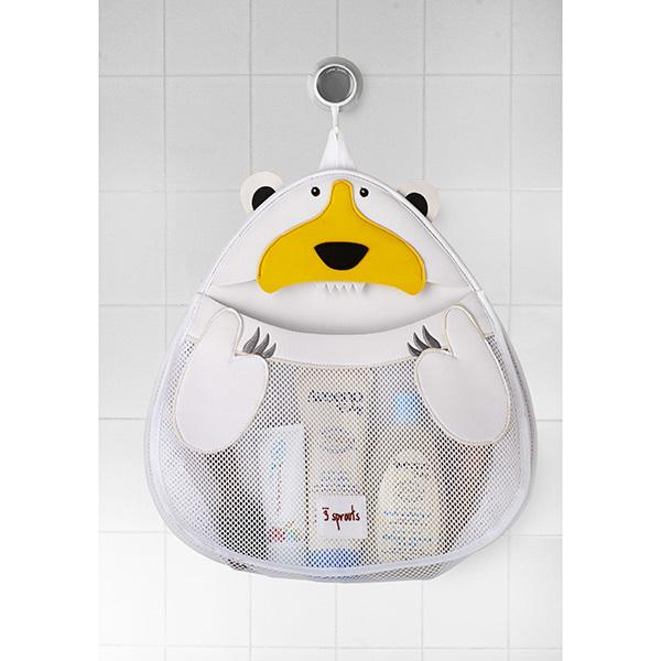 Органайзер для ванной 3 Sprouts Полярный медведь (белый)