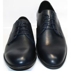Темно синие мужские туфли Икос 3360-4.