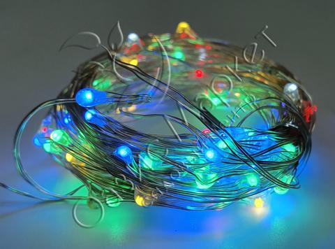 Светодиодная гирлянда роса 10м 100LED мульти