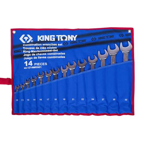 KING TONY (1214MRN01) Набор комбинированных ключей, 10-32 мм, 14 предметов