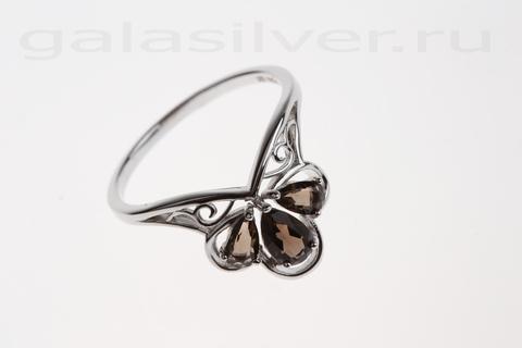 Кольцо с раухтопазом из серебра 925