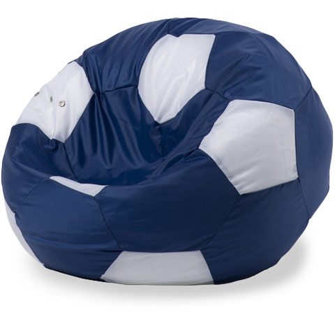 Бескаркасное кресло «Мяч» XL, Синий и белый