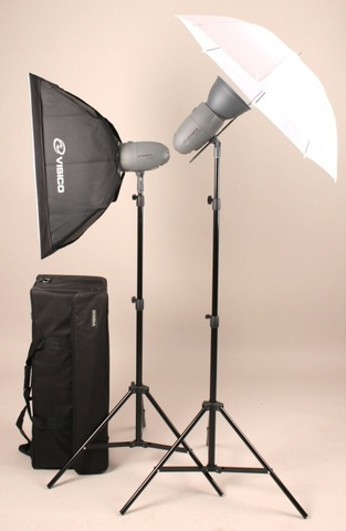Visico VT-300 soft box/umbrella kit