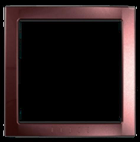 Рамка на 1 пост, декоративный элемент. Цвет Терракотовый. Schneider electric Unica. MGU4.000.51