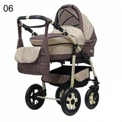 Детская коляска FENIX PCOF (3 в 1) (BartPlast) кремовый/коричневый 06