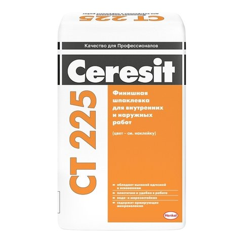 Шпаклевка Церезит СТ 225 белая 25 кг