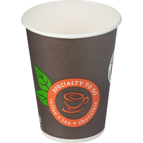 Стакан одноразовый Coffee-to-Go бумажный разноцветный 300 мл 50 штук в упаковке