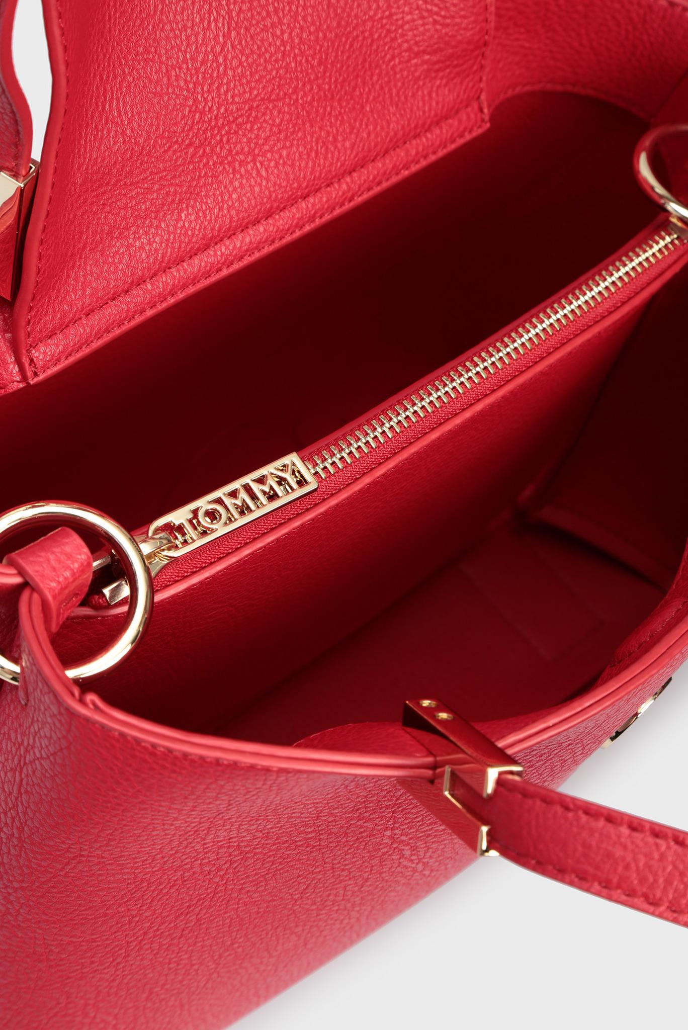 Женская красная сумка через плечо TH CORE MED SATCHEL Tommy Hilfiger