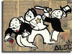 "Постер ""Задержание Monopoly"""