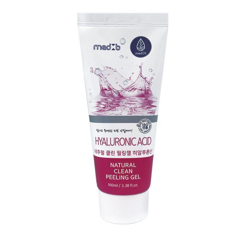 MED B Натуральный пилинг гель для лица с гиалуроновой кислотой Natural Clean Peeling Gel  Hyaluronic Acid