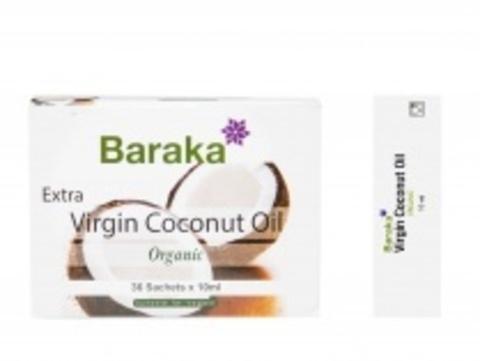 Кокосовое масло Барака, Органик Био, 36шт по 10мл