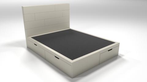 Кровать Домино без матраса (эко-кожа белая)