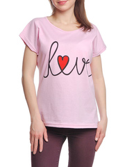 37662-20-1 футболка женская, розовая