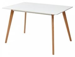 Стол ABELE 120 белый/массив бука