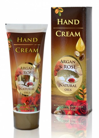 Крем для рук с аргановым и натуральным болгарским розовым маслом