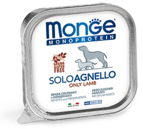 Monge Dog Monoprotein Solo B&S консервы для собак паштет из ягненка 150г