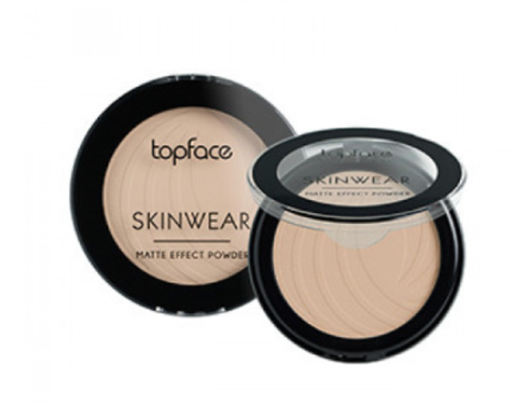 Topface Пудра матовая Skinwear Matte Effect тон 01, светло-бежевый- РТ265 (10 г)