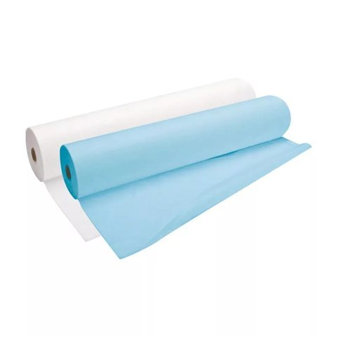Простыни Эконом 70х200 (рулон) 80 шт голубые/белые